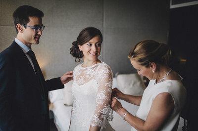 La novia de las zapatillas plateadas: el gran día de Mire y Pepe