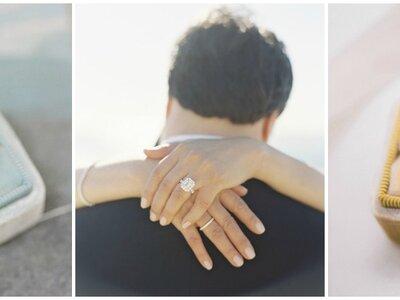 La historia del anillo de compromiso a través de estos 100 años