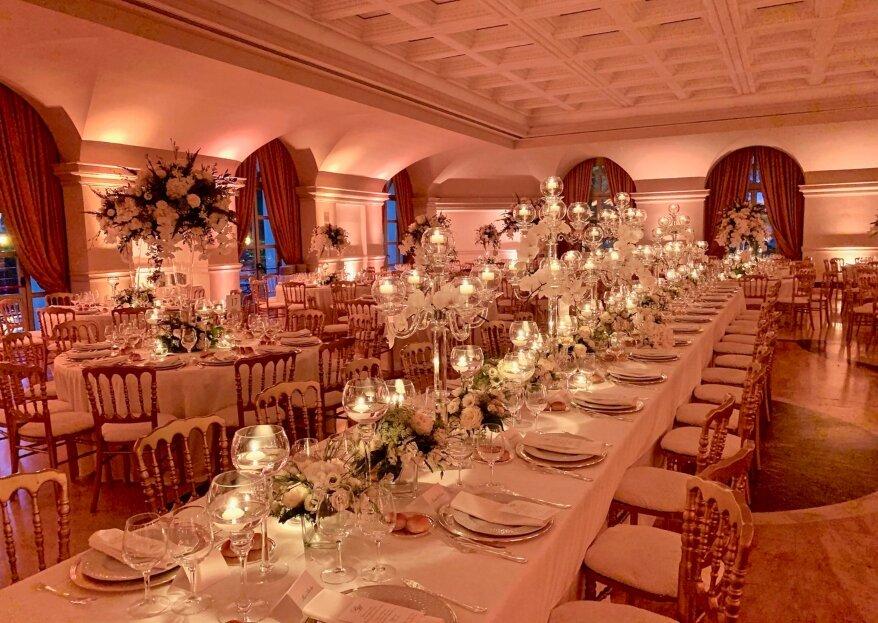 Con Addobbi Gori Daniele gli allestimenti floreali saranno i protagonisti delle nozze insieme alla coppia