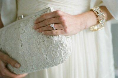 Tendencias: clutchs y bolsos de mano para novias estilo vintage