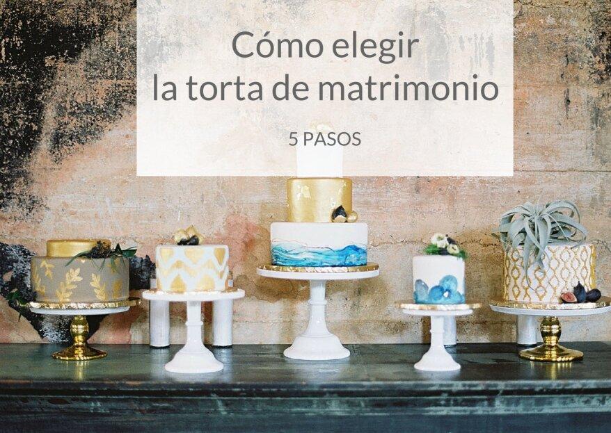 Cómo escoger la torta de matrimonio: 5 pasos para acertar con esta dulce decisión