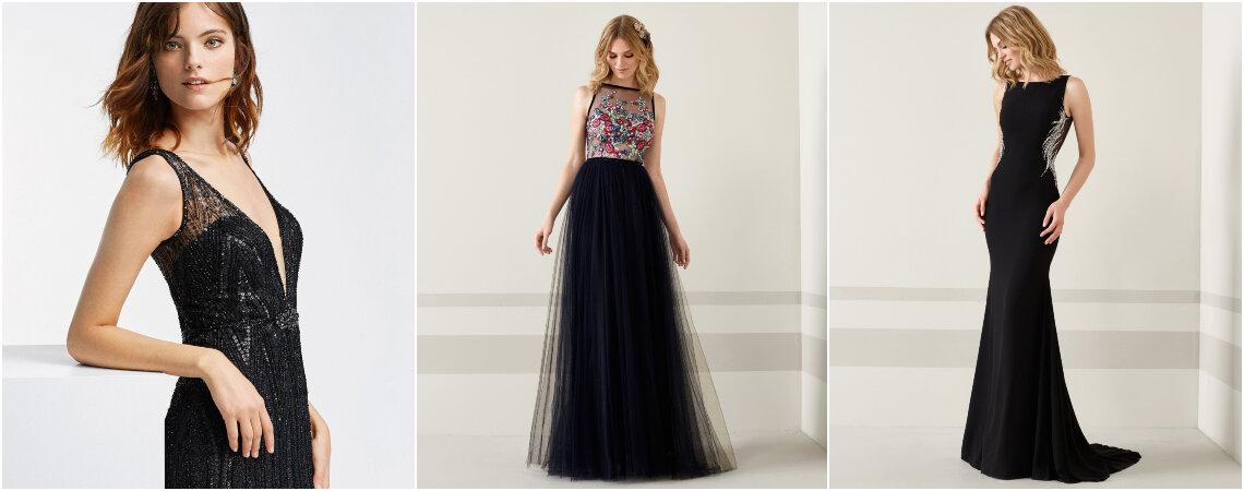 Más de 75 vestidos de fiesta negros, ¡el clásico por generaciones con el que siempre acertarás!