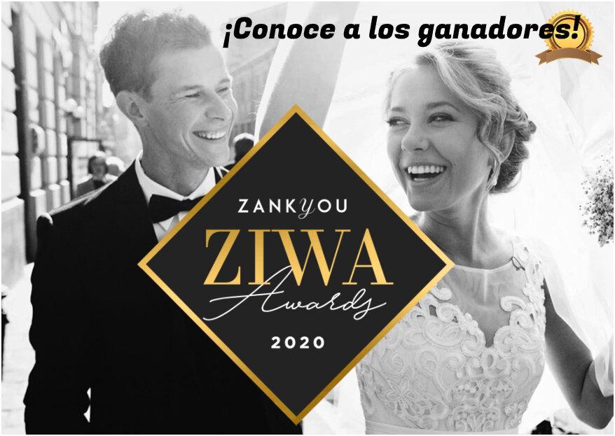 Conoce a los ganadores ZIWA 2020: ¡los mejores del sector de matrimonios!