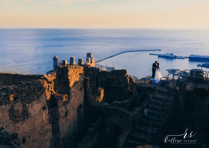 Il vostro matrimonio da mille e una notte diventerà realtà tra i bastioni dell'antico Castello di Arechi, a Salerno