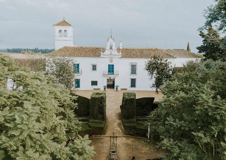 Celebrad vuestro evento más especial en el lugar con más encanto de Sevilla: La Hacienda San Juan del Hornillo