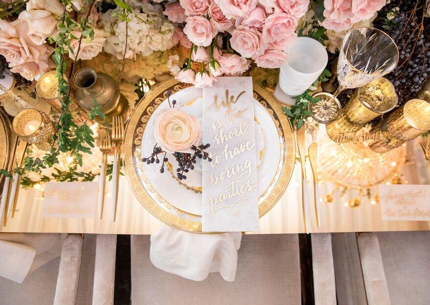 Trend Alert: efeito mármore na decoração do seu casamento!