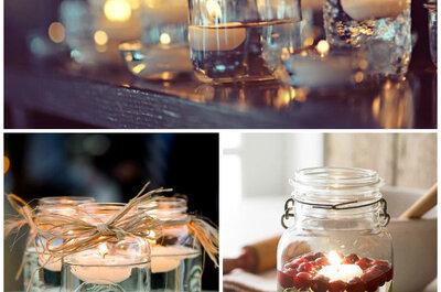 Pomysł tygodnia: świeczki w słoikach jako weselna dekoracja