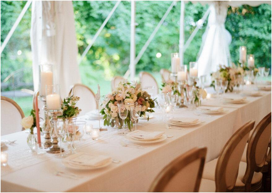 5 errores en la decoración del banquete de bodas. ¡Cuida todos los detalles!