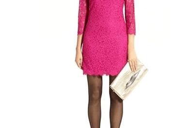 Vestidos cortos en color rosa para novias en San Valentín