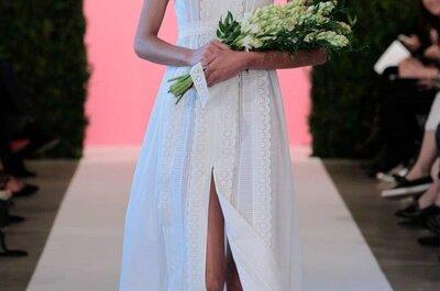 Uma viagem do clássico ao exótico: Vestidos de noiva de Primavera 2015 Óscar de la Renta