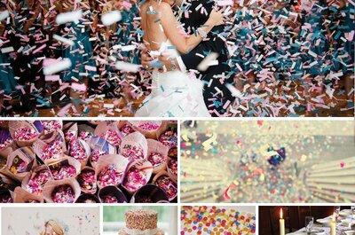 Confeti por doquier, la tendencia más divertida de las bodas