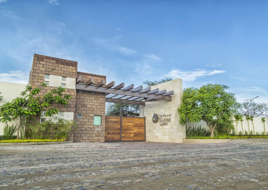 Hacienda Rosina: una hacienda contemporánea para celebrar una boda llena de buen gusto