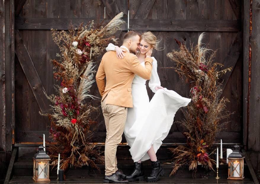 Свадебная осенняя съемка, вдохновленная местными эко-материалами