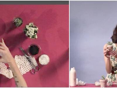 Meu Casamento DIY: saiba como fazer lindos vasinhos rendados em 3 minutos!