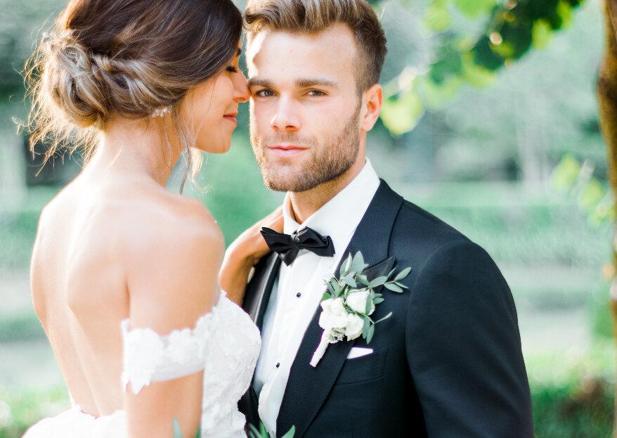 As 5 cores para a boutonnière do noivo: qual é que escolheria?
