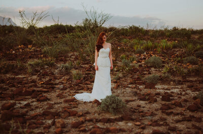 Sueños de una novia al natural: Un fashion shoot mágico