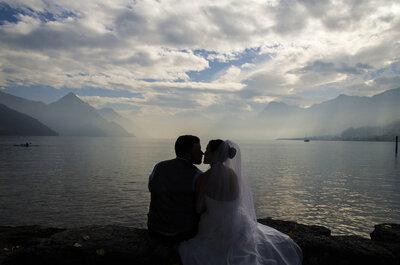Schweizerisch-amerikanische Hochzeit – Martina & Mario heirateten mit Blick auf den Vierwaldstättersee