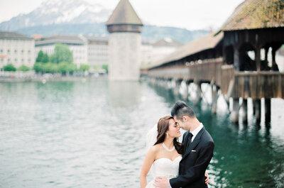 Brautpaar-Shooting im Schloss Meggenhorn & Luzern: Die Kulisse macht den Unterschied!