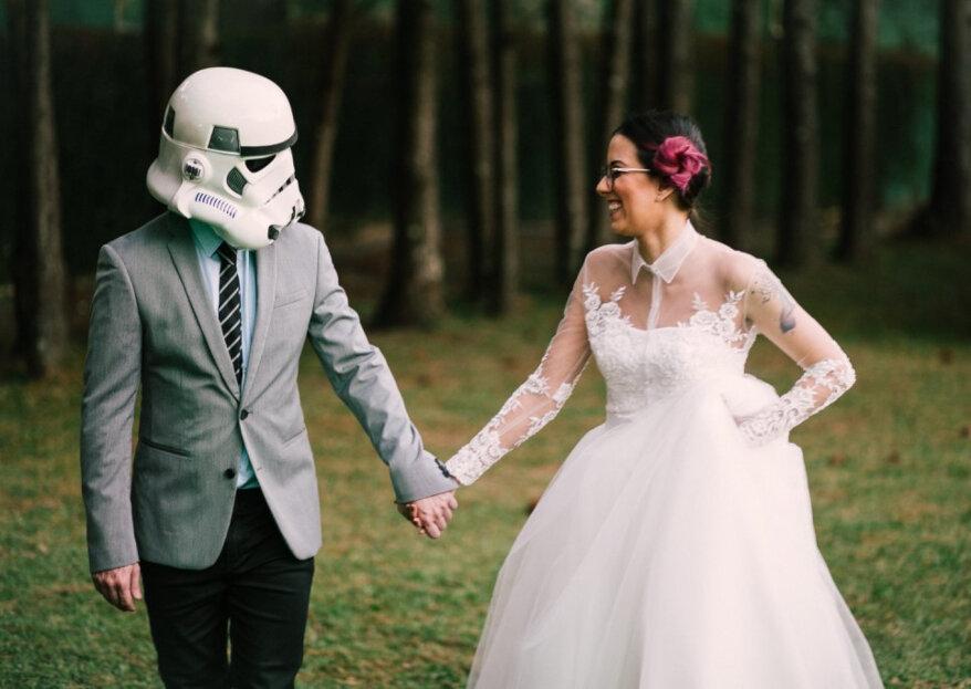 Boda temática inspirada en Star Wars: ¡una celebración de otra galaxia!