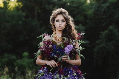 Un vestido de novia hecho con flores naturales: La sesión de fotos más hermosa que jamás hayas visto