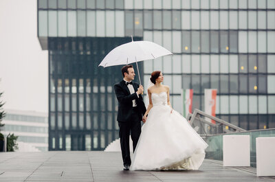 Eine urbane Winterhochzeit: Kira und Mike heirateten in Düsseldorf!