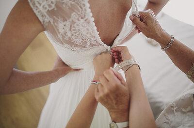 ¿Quién debe acompañar a la novia a la prueba del vestido? ¡Atenta a estos consejos!