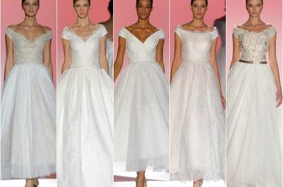 Модные тенденции 2015: Свадебное платье с открытыми плечами