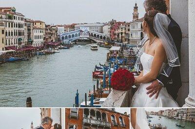 Il matrimonio di Alexandra ed Alfred: un caldo abbraccio tra le calli veneziane