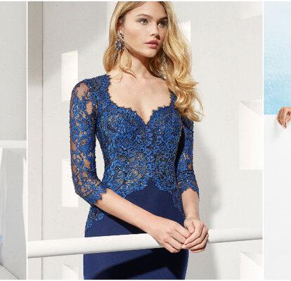 0ec4e960b Más de 60 vestidos de fiesta azules. ¡Un color elegante y clásico para tu  look de invitada!