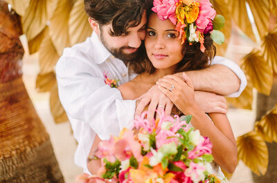 Caribbean inspired romance for your big day - Totally tropical!