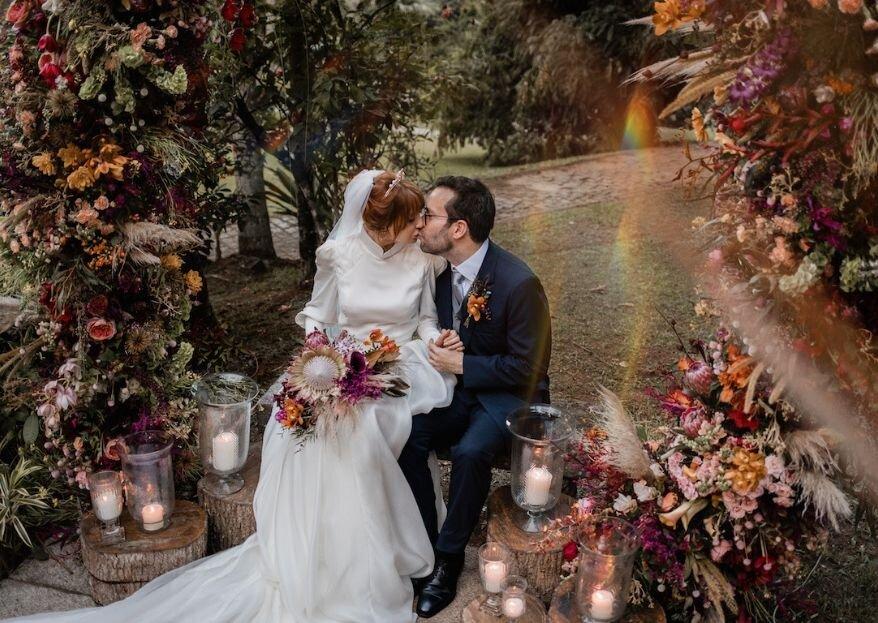 Natália & João Emanuel: Casamento clássico e ultra sofisticado no Rio de Janeiro, com cerimônia na capela da família e festa em um lindo jardim.