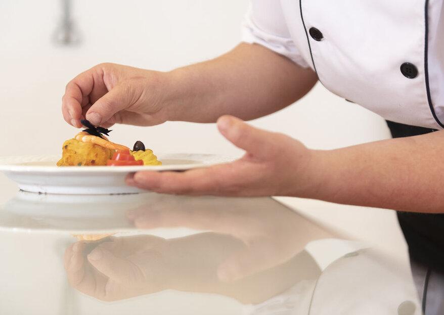 3 segredos para conseguir que o banquete seja um espetáculo para a vista.