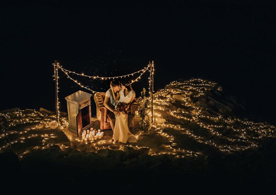 Ephemeral Light: el shooting organizado, producido y decorado por Weddever