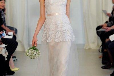 Wyjątkowe formy sukien ślubnych z kolekcji Angel Sanchez 2014