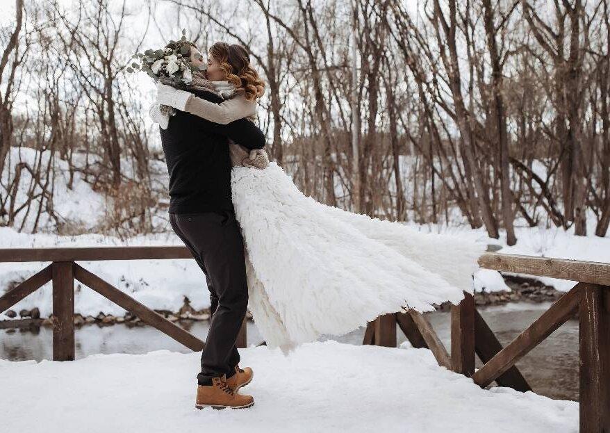 Зимний камерный ужин: свадьба Дмитрия и Ирины