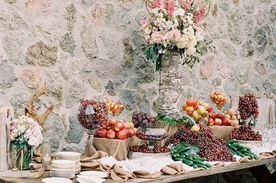 Tendencias en catering para matrimonios 2016: sorprende a todos con las mejores ideas en decoración