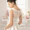 Свадебное платье с бантиком на спине Rosa Clará