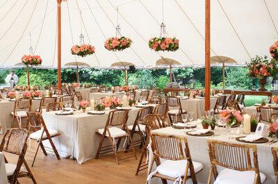 Des tentes Silhouettes dans l'esprit guinguette, une tendance mariage en vogue !