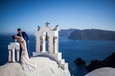 Un mariage chic à Montpellier et une séance photo à Santorin : le mariage grandiose de Solène + Romain