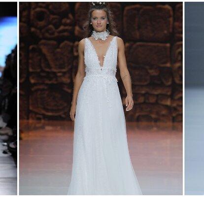 26876c42a495 Abiti da sposa per donne con seno abbondante  40 modelli imperdibili!