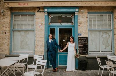 Élodie et Sébastien : un joli mariage dans le Nord sur le thème des voyages