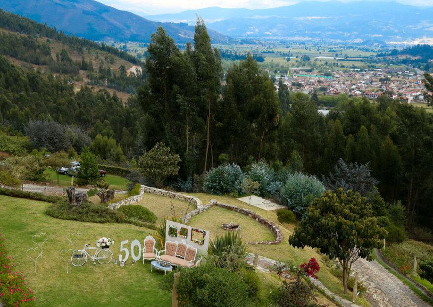 El valle de Sugamuxi, la increíble vista para tu boda del Bella Tierra Hotel Boutique