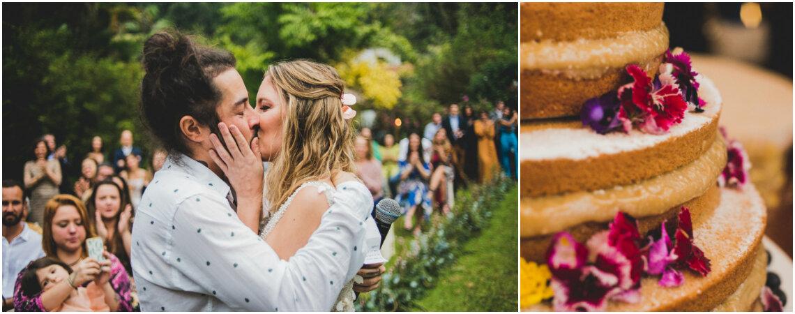 O casamento ao ar livre de Marcela & Guilherme: cheio de amor e positividade em meio ao verde do Alto da Boa Vista!