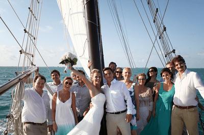 Real Wedding: Boda íntima en alta mar
