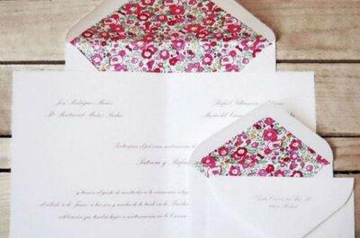 Invitaciones de boda sencillas y románticas para 2015