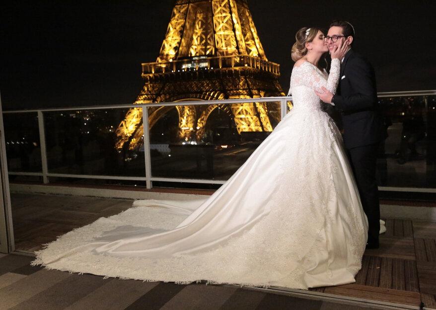 Esther et Axel: une union festive avec vue sur la Tour Eiffel
