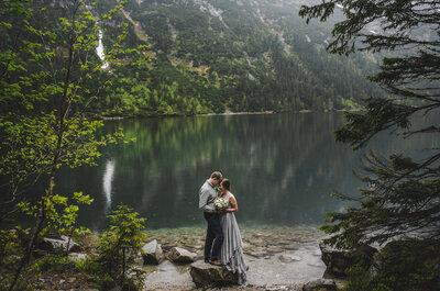 Ślub nad największym okiem w Polsce, czyli Morskie Oko w idealnym ślubnym trio!