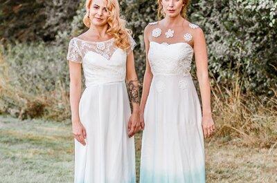 La última tendencia en vestidos de novia tie dye. ¿Los conocías?