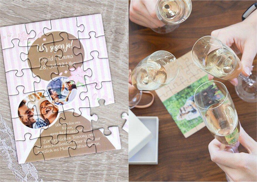 Puzzle-Einladung: Überraschen Sie Ihre Gäste mit einer außergewöhnlichen Einladung von fotopuzzle.de!