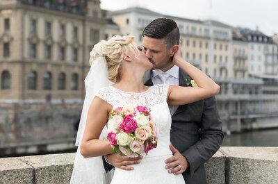 Die Traumhochzeit von Angelica & Tarek mit Kutschfahrt zum Grand Hotel Les Trois Rois